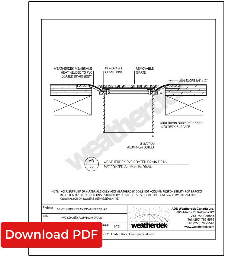 Waterproof Deck Drawing Details Weatherdek